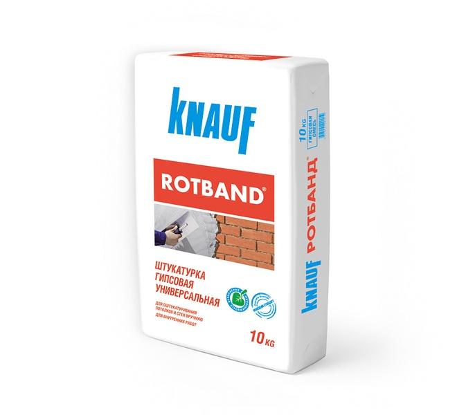 Купить Штукатурка гипсовая универсальная Knauf Ротбанд, 10 кг — Фото №1
