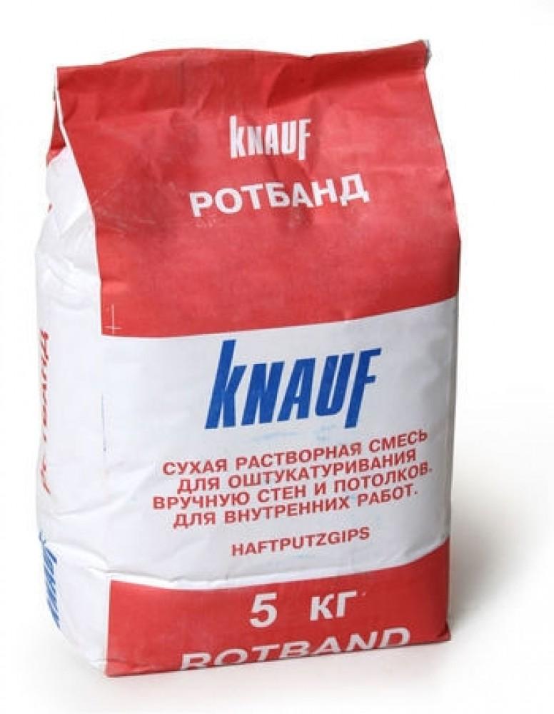 Купить Штукатурка гипсовая универсальная Knauf Ротбанд, 5 кг — Фото №1