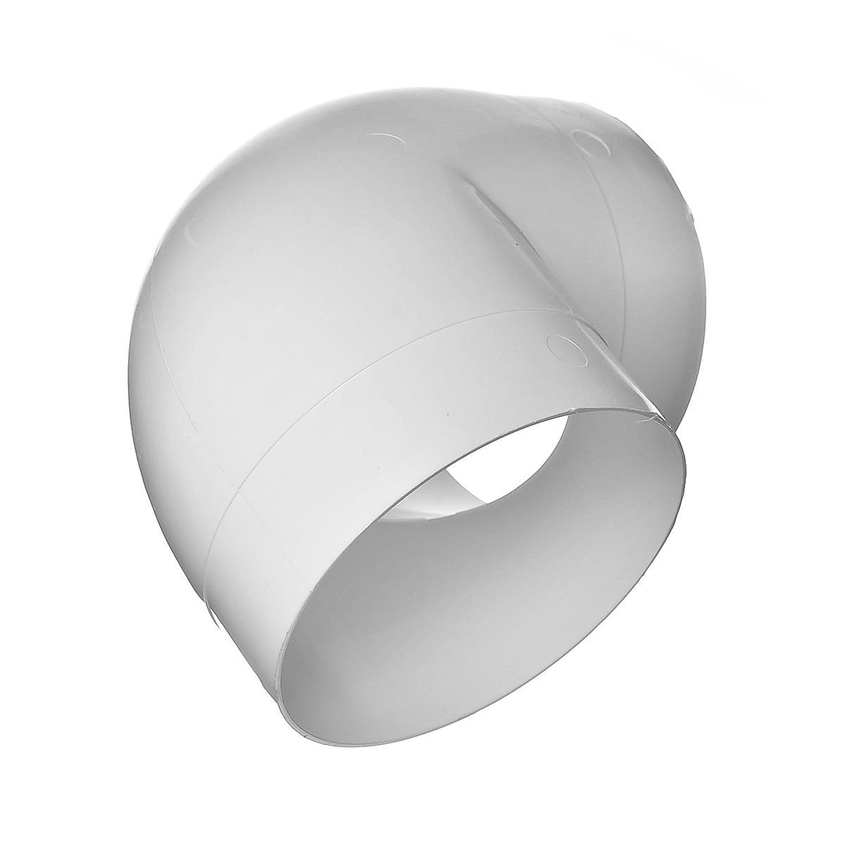 Купить Отвод круглый для вентиляционных труб 100 мм, угол 90° — Фото №1