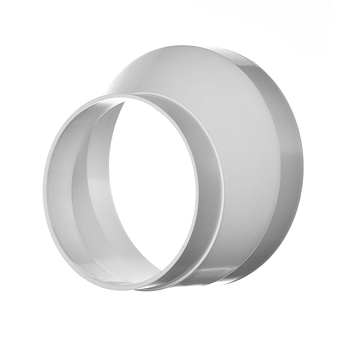 Купить Переход эксцентриковый для вентиляционных труб пластиковый, диаметр 100х125 мм — Фото №1