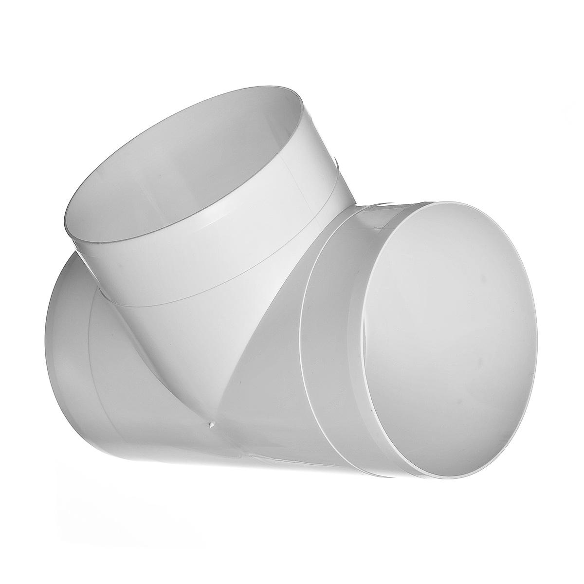 Купить Тройник для вентиляционных труб пластиковый 100 мм, угол 90° — Фото №1