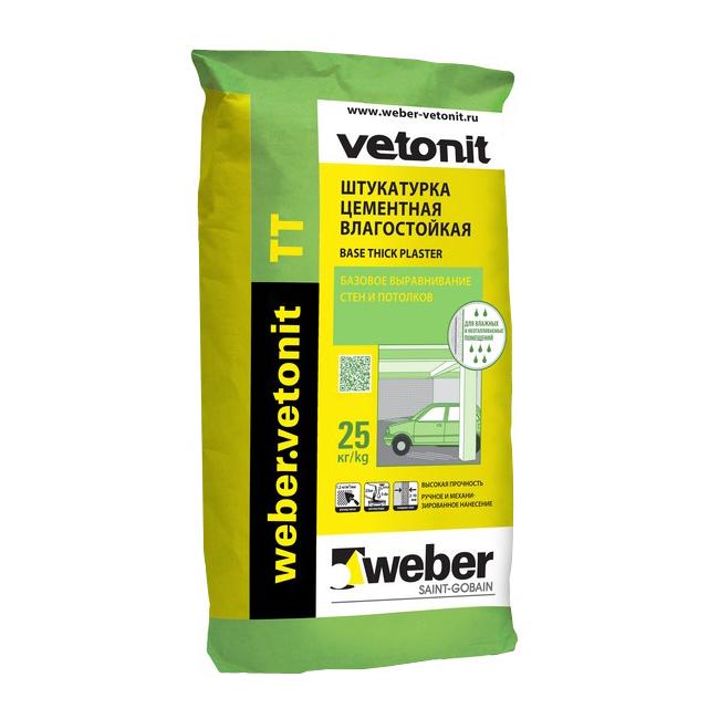 Купить Штукатурка Weber.vetonit TT (серая), 25 кг — Фото №1