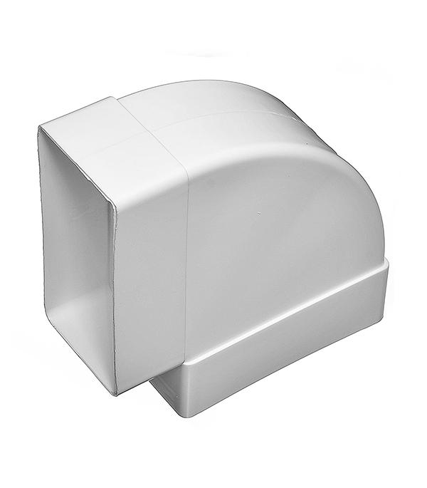 Купить Отвод горизонтальный для вентиляционных коробов пластиковый 60х120 мм, угол 90° — Фото №1