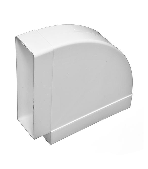 Купить Отвод горизонтальный для вентиляционных коробов пластиковый 60х204 мм, угол 90° — Фото №1