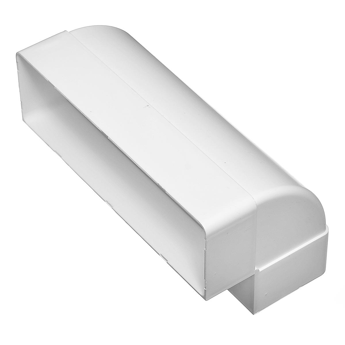 Купить Отвод вертикальный для вентиляционных коробов пластиковый 60х204 мм, угол 90° — Фото №1