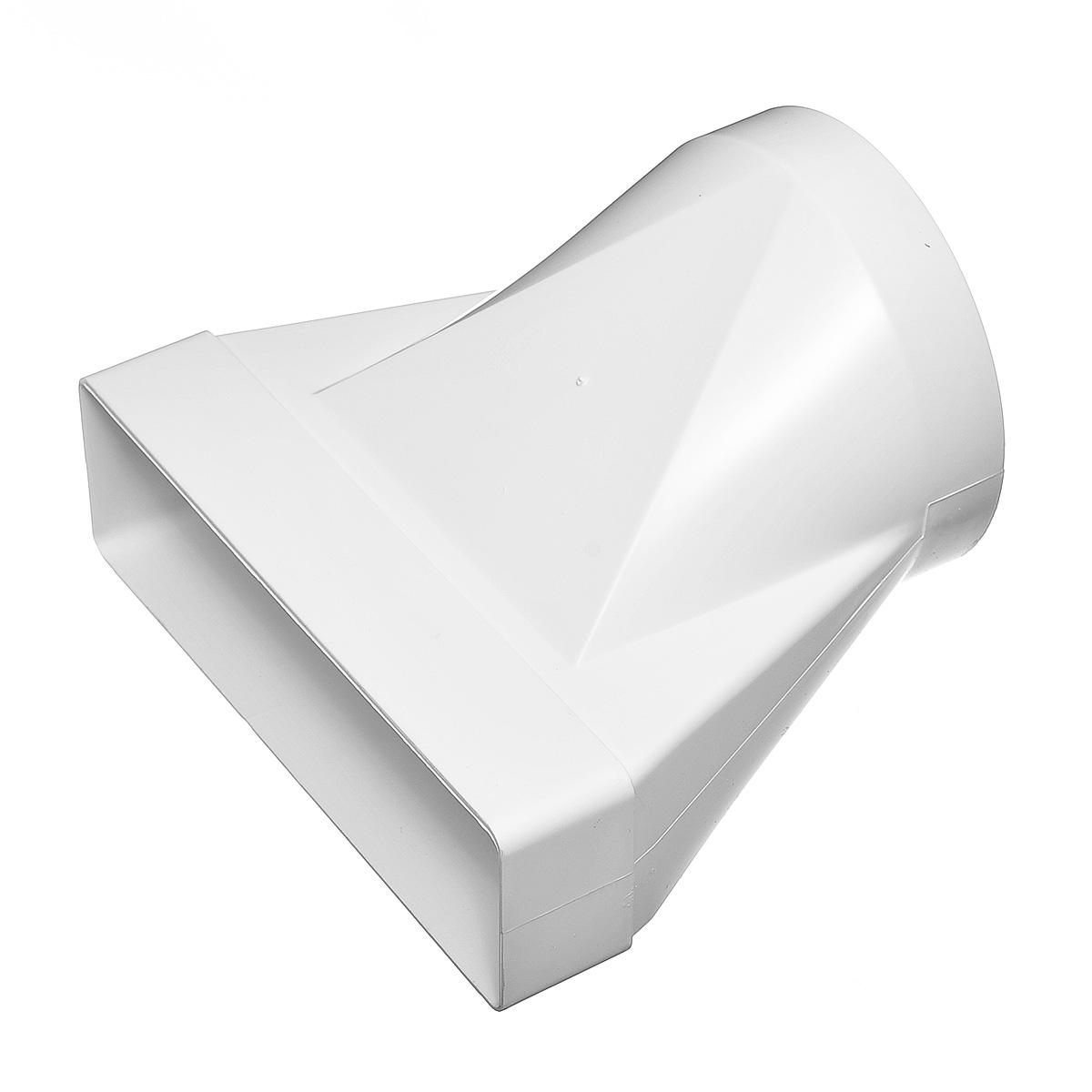 Купить Переход эксцентриковый пластиковый для вентиляционных коробов 60х204 мм с круглыми D125 мм — Фото №1