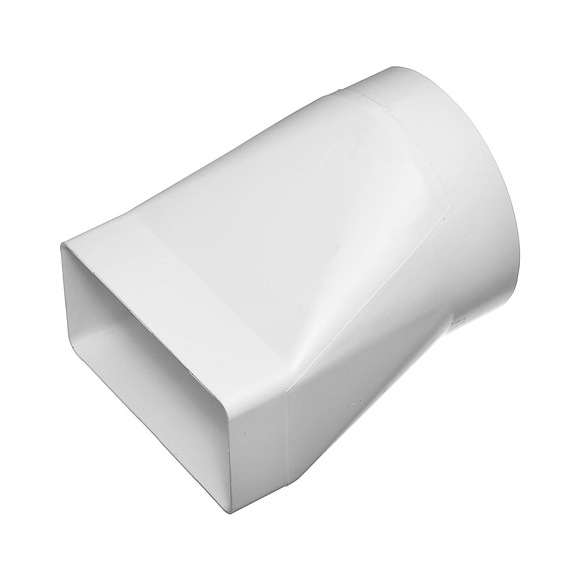 Купить Переход эксцентриковый пластиковый для вентиляционных коробов 55х110 мм с круглыми D100 мм — Фото №1