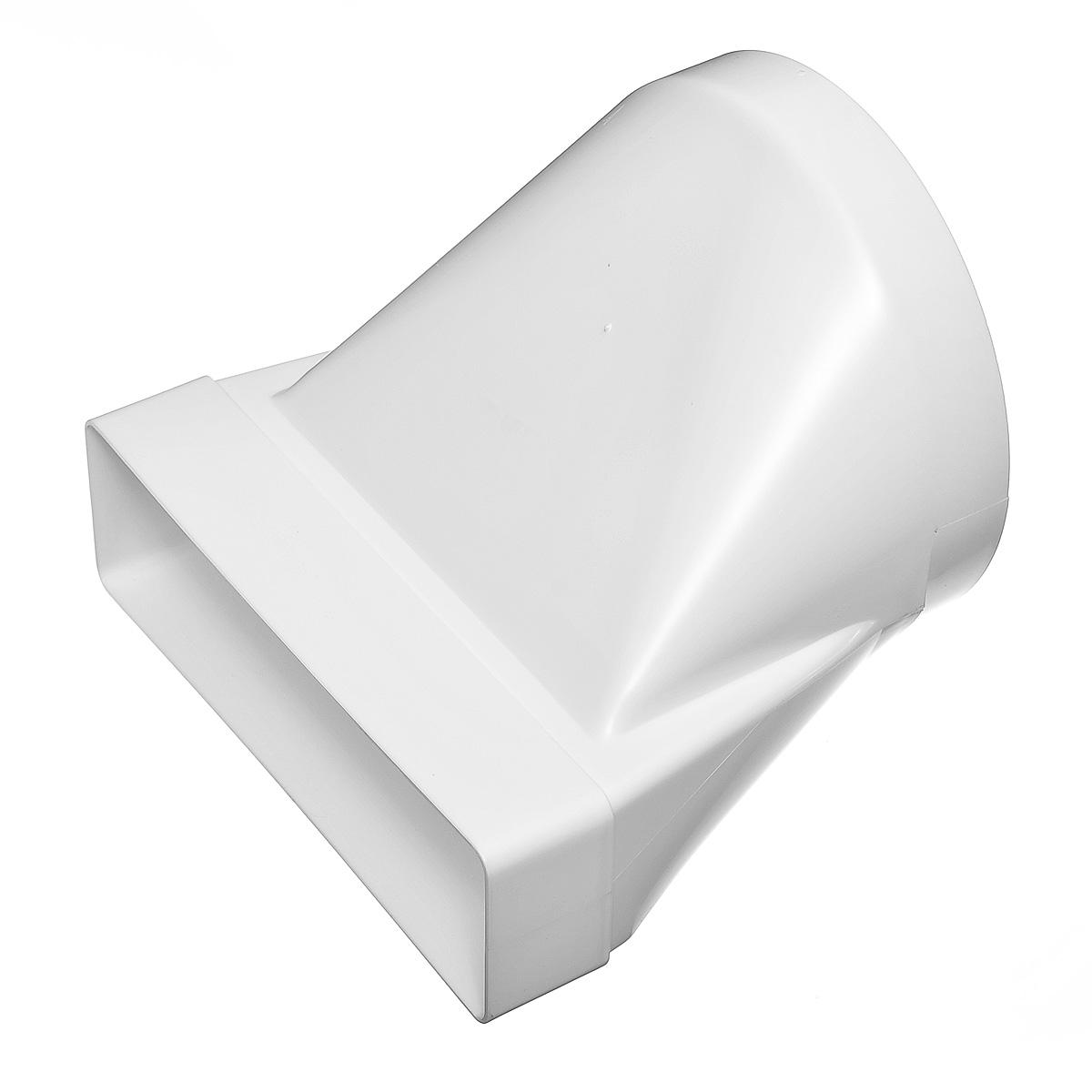 Купить Переход угловой 90º пластиковый для вентиляционных коробов 60х204 мм с круглыми D160 мм — Фото №1