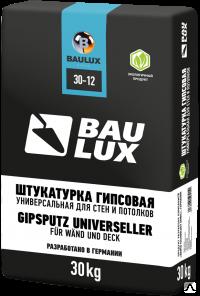Baulux 30-12, 30 кг, Штукатурка гипсовая