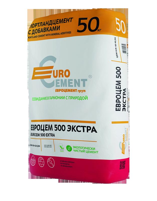Купить Цемент Eurocement Экстра М500 Д20, 50 кг — Фото №1