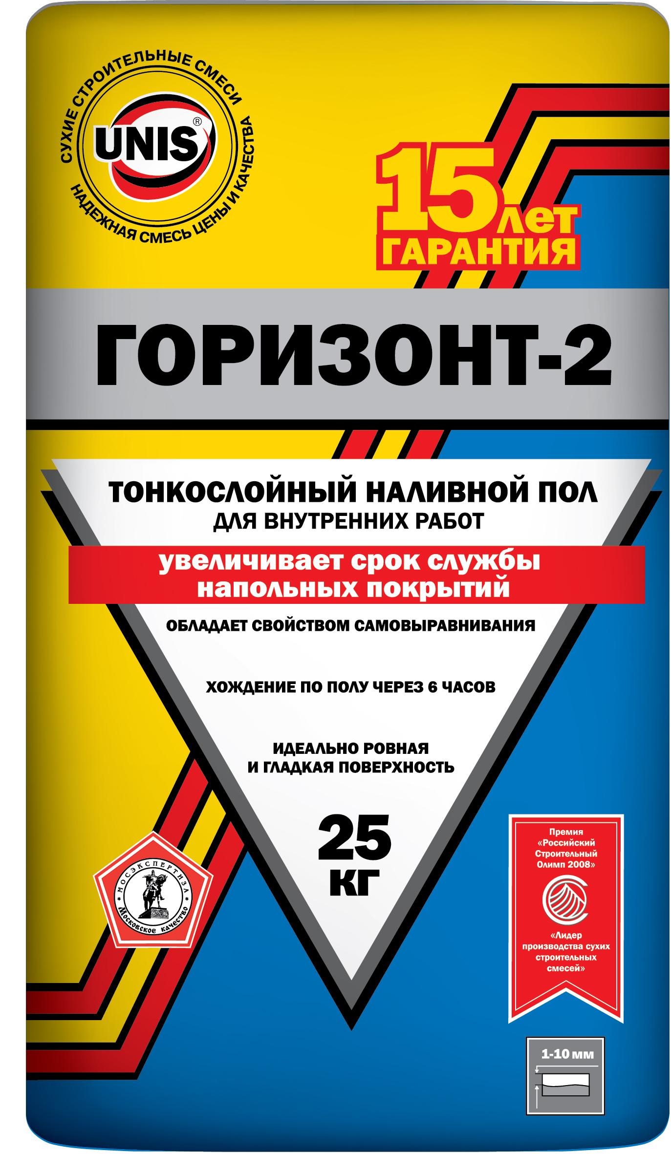 Купить Наливной пол финишный Unis Горизонт-2, 25 кг — Фото №1