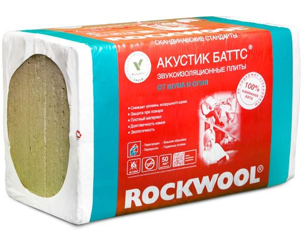 Купить Плиты Rockwool Акустик Баттс 1000x600х100 мм, 5 шт — Фото №1