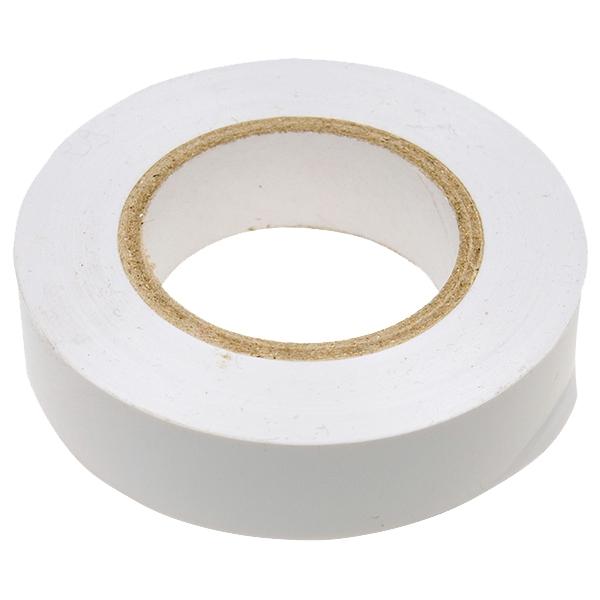 Купить Изолента ПВХ 19 мм (белая), длина 20 м — Фото №1