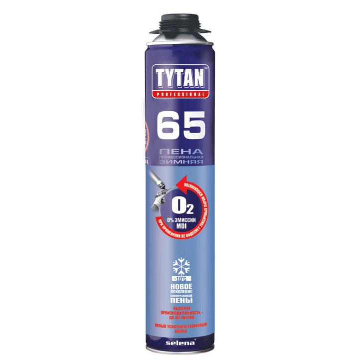 Купить Пена монтажная профи всесезонная Tytan 65, 750 мл — Фото №1