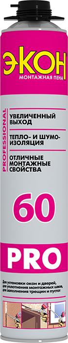 Пена монтажная профессиональная Экон Pro 60, 750 мл
