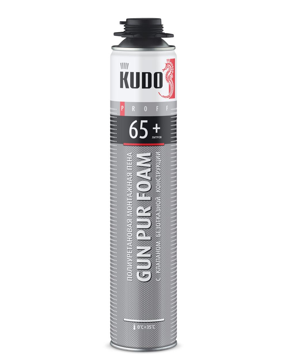 Пена монтажная Kudo Proff 65+, 750 мл