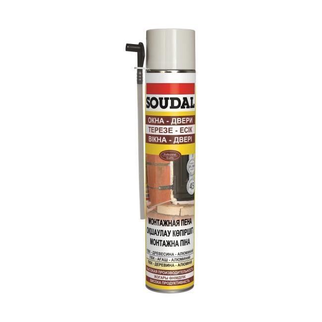 Купить Пена монтажная бытовая Soudal PU Foam, 750 мл — Фото №1