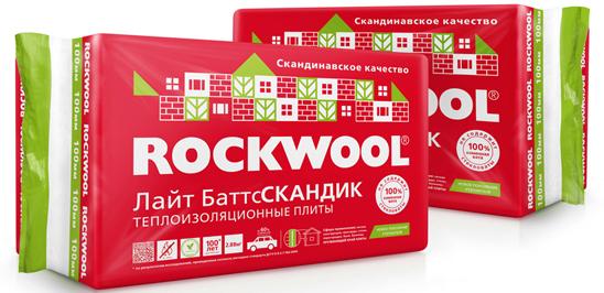 Купить Минеральная вата Rockwool Лайт Баттс Скандик 800x600 толщина 100 мм (6 плит в упаковке) — Фото №1