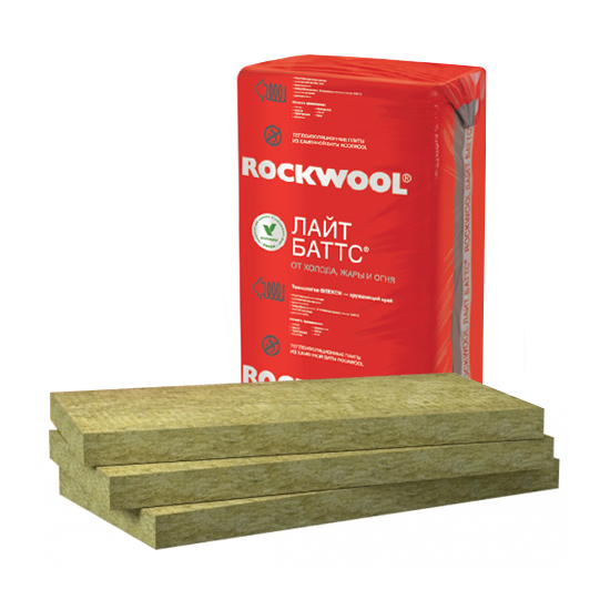 Купить Минеральная вата Rockwool Лайт Баттс 1000x600 толщина 100 мм (5 плит в упаковке) — Фото №1