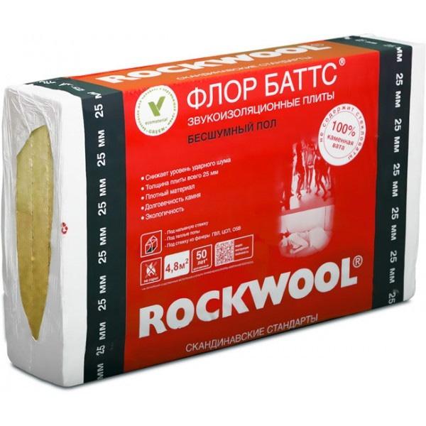 Купить Утеплитель Rockwool Флор Баттс, 1000х600х25 мм — Фото №1