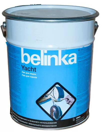 Лак лодочный Belinka Yacht (глянцевый), 9 л