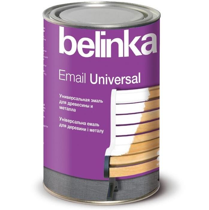 Эмаль универсальная Belinka Email Universal B1 глянцевая белая 0,9 л