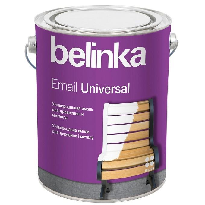Эмаль универсальная Belinka Email Universal B1 полуматовая белая 2,7 л