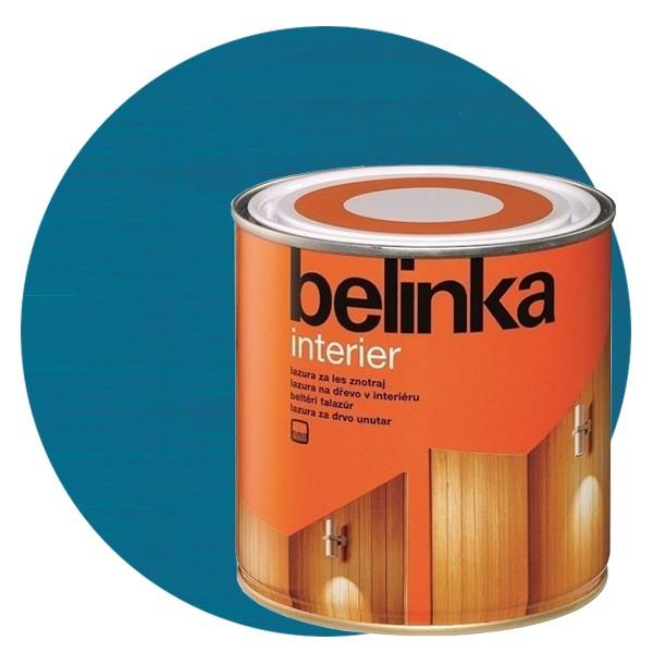 Пропитка для древесины Belinka Interier № 72 Санториново-синий, 0,75 л
