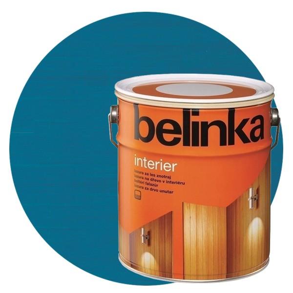 Пропитка для древесины Belinka Interier № 72 Санториново-синий, 2,5 л