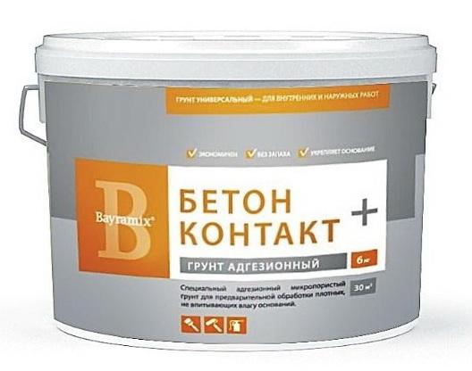 Грунтовка Bayramix Бетон Контакт (прозрачная), 12 кг