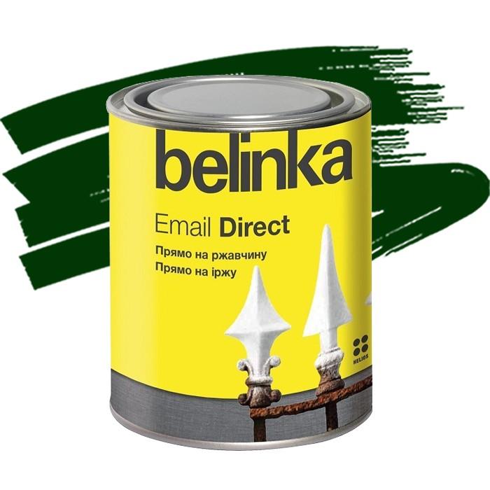Эмаль антикоррозионная по ржавчине Belinka Email Direct зеленая 0,75 л