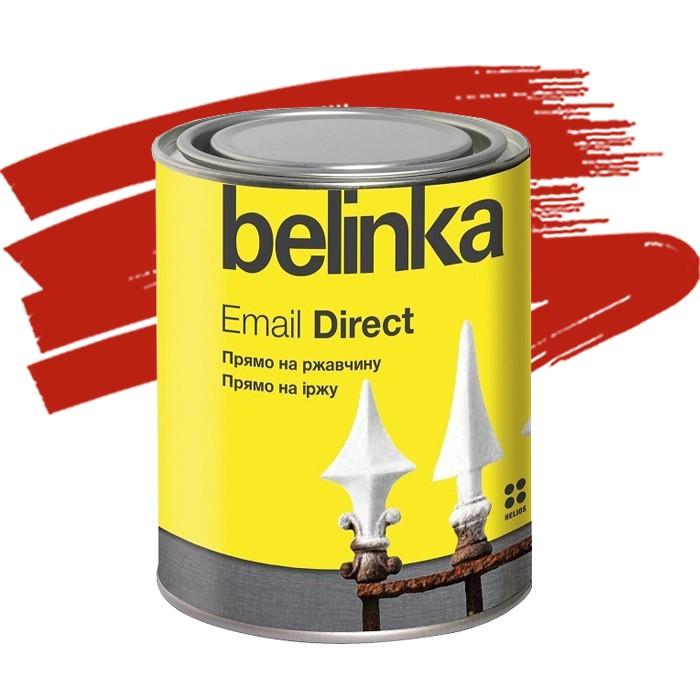 Эмаль антикоррозионная по ржавчине Belinka Email Direct красная 0,75 л