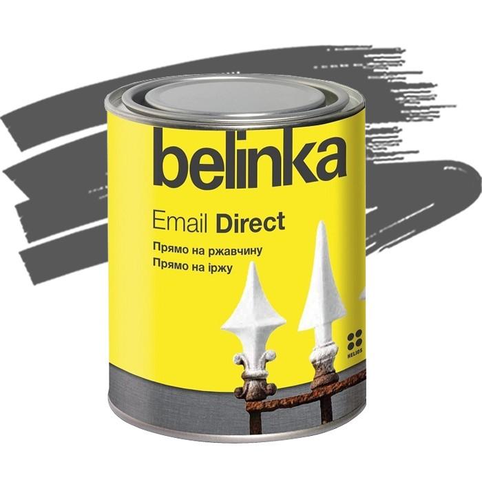 Эмаль антикоррозионная по ржавчине Belinka Email Direct серая 0,75 л