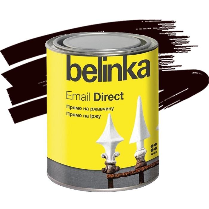 Эмаль антикоррозионная по ржавчине Belinka Email Direct коричневая 0,75 л