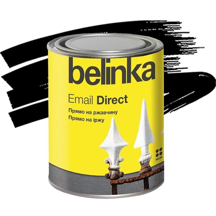 Эмаль антикоррозионная по ржавчине Belinka Email Direct черная 0,75 л