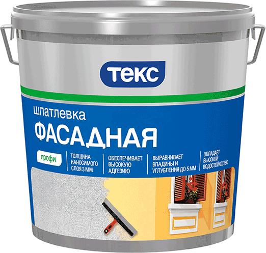 Купить Шпатлевка готовая фасадная Текс Профи, 16 кг — Фото №1