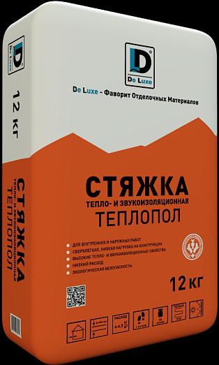 Купить Стяжка пола высокопрочная De Luxe Теплопол, 12 кг — Фото №1