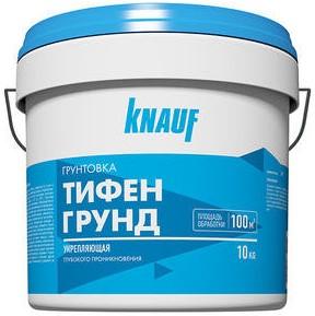 Купить Грунтовка глубокого проникновения акриловая Knauf Тифенгрунд (белая), 10 л — Фото №1