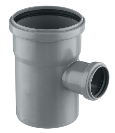 Тройник канализационный внутренний РосТурПласт, диаметр 110х50 мм (угол 87°)