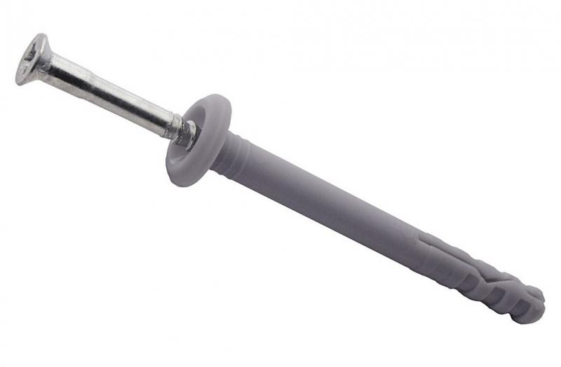 Купить Дюбель-гвоздь с бортиком, 6х80 мм (100 шт) — Фото №1