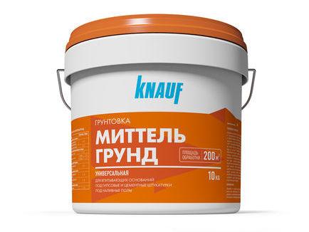 Купить Грунтовка универсальная Knauf Миттельгрунд (желтая), 10 кг — Фото №1