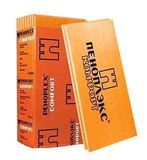 Купить Экструдированный пенополистирол Пеноплэкс Комфорт, 1185х585х100 мм (4 плиты/2.77 м2) — Фото №1