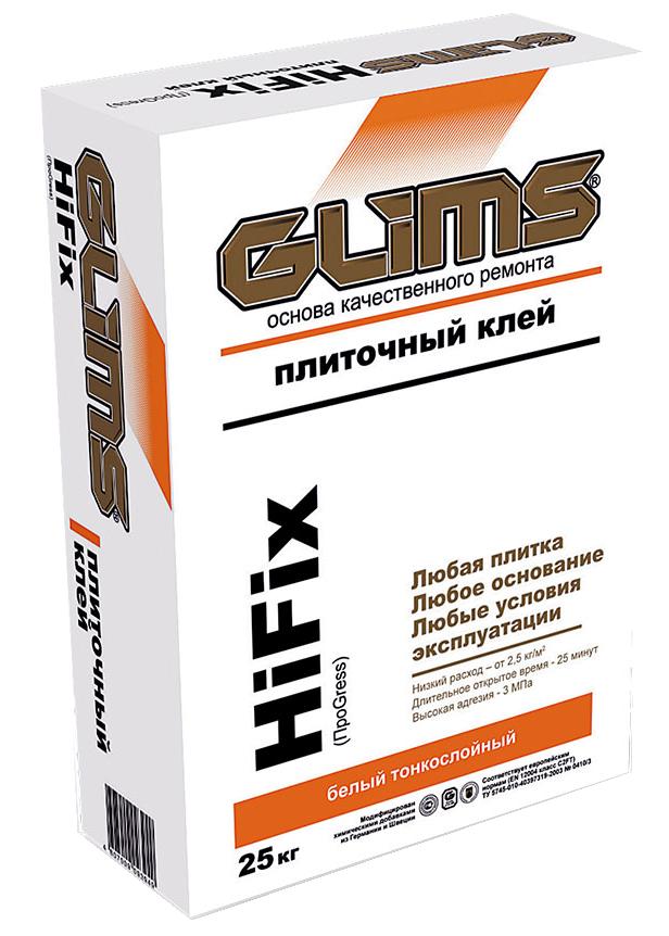 Купить Клей для плитки Glims HiFix, 25 кг — Фото №1