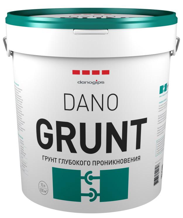 Купить Грунтовка глубокого проникновения акриловая Danogips Dano Grunt (прозрачная), 10 л — Фото №1