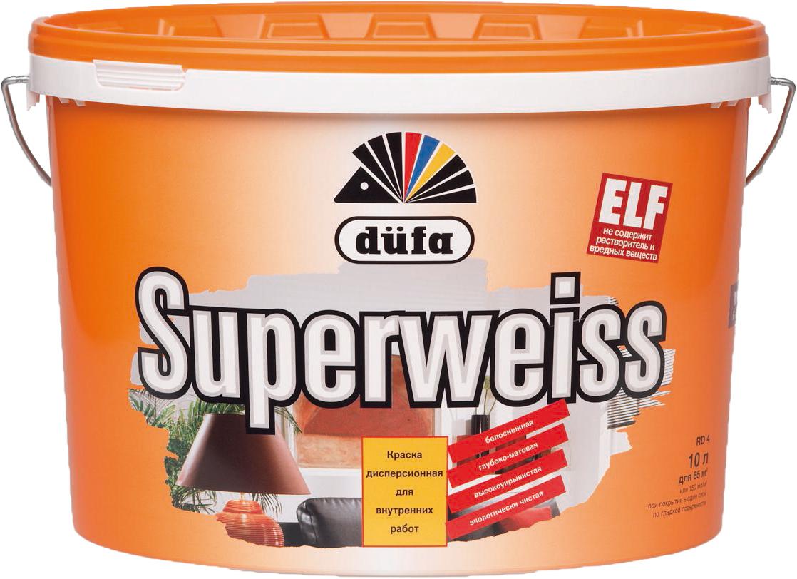 Купить Краска интерьерная Dufa Superweiss (белая), 2.5 л — Фото №1