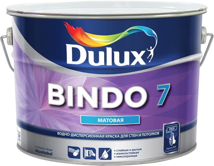 Купить Краска интерьерная латексная Dulux Bindo 7 (белая), 10 л — Фото №1