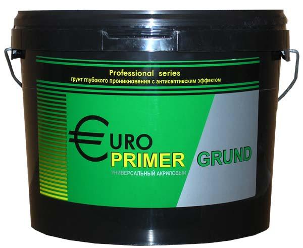 Купить Грунтовка глубокого проникновения акриловая Гермес Europrimer (прозрачная), 10 л — Фото №1