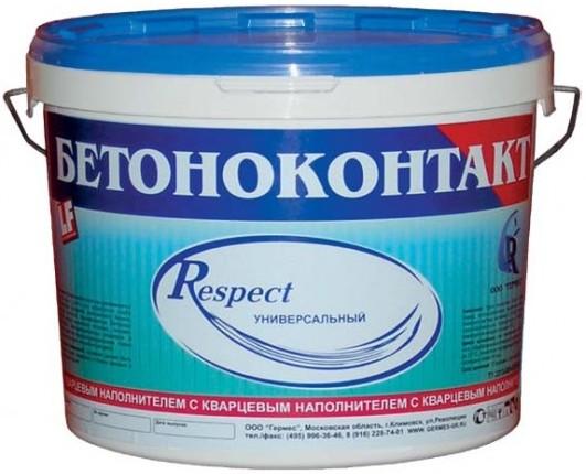 Купить Грунтовка для бетона Respect Бетоноконтакт, 10 кг — Фото №1