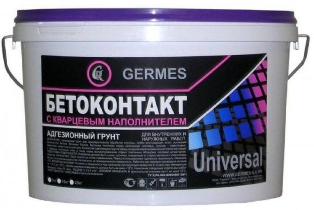 Купить Грунтовка для бетона с кварцевым наполнителем Гермес Бетоноконтакт, 10 кг — Фото №1
