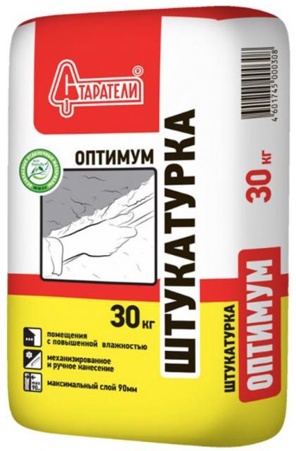 Купить Штукатурка гипсово-цементная Старатели Оптимум (серая), 30 кг — Фото №1